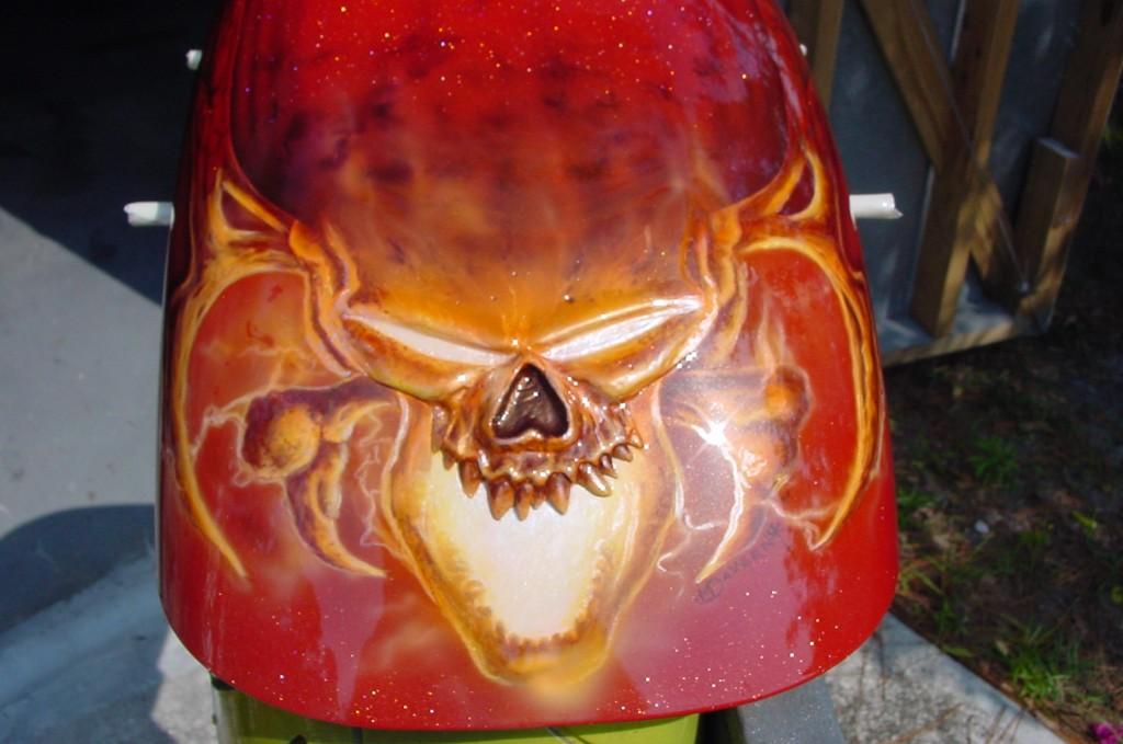 molded skull fender