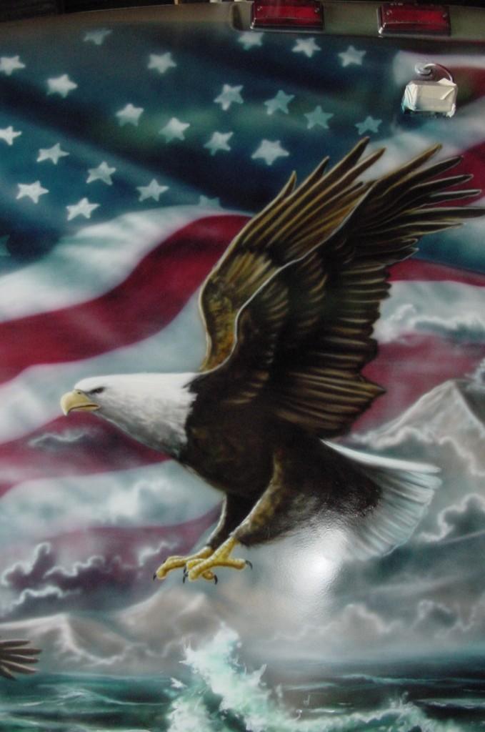 RV eagle closeup