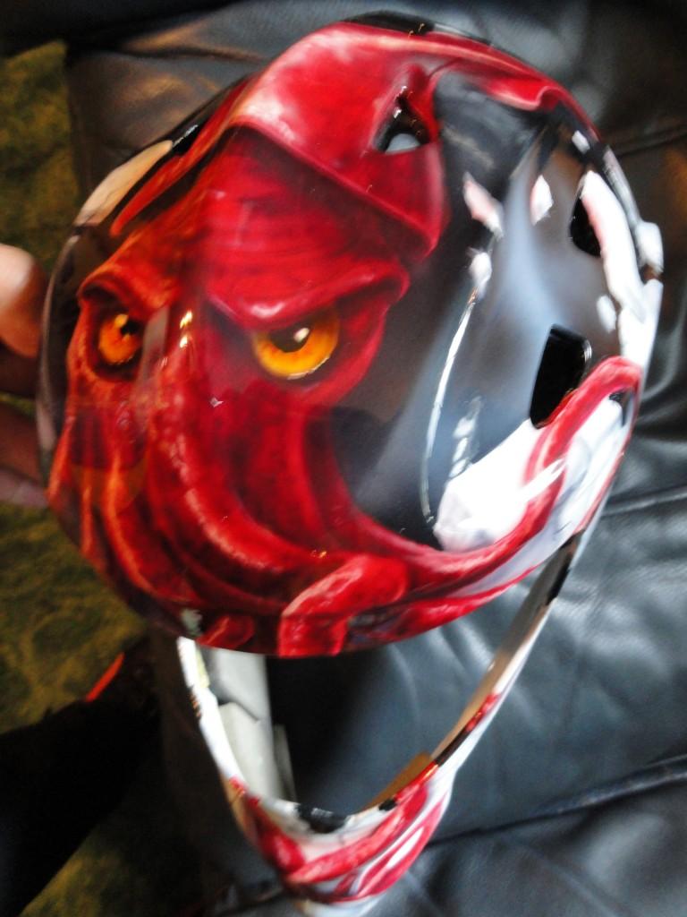 Squid hockey helmet