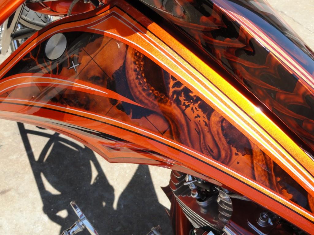 Pirate bike top of fuel tank