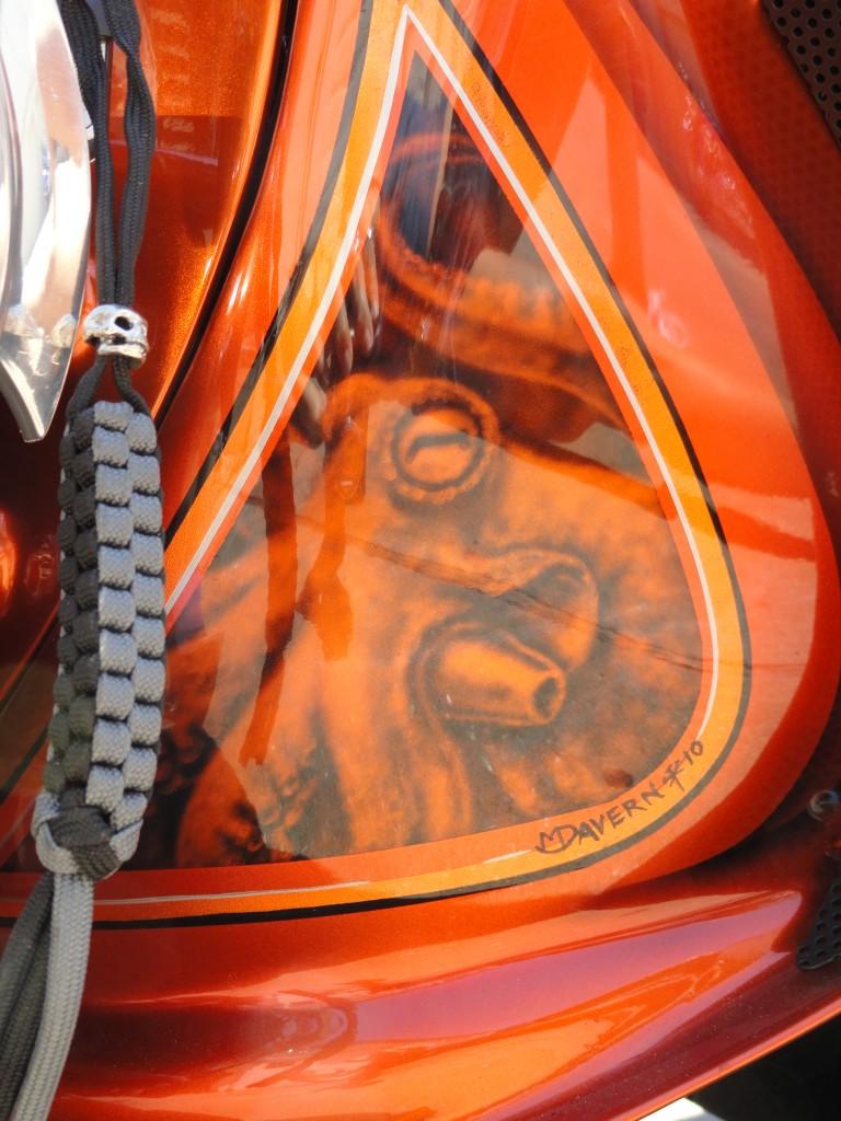 Pirate bike octopus detail