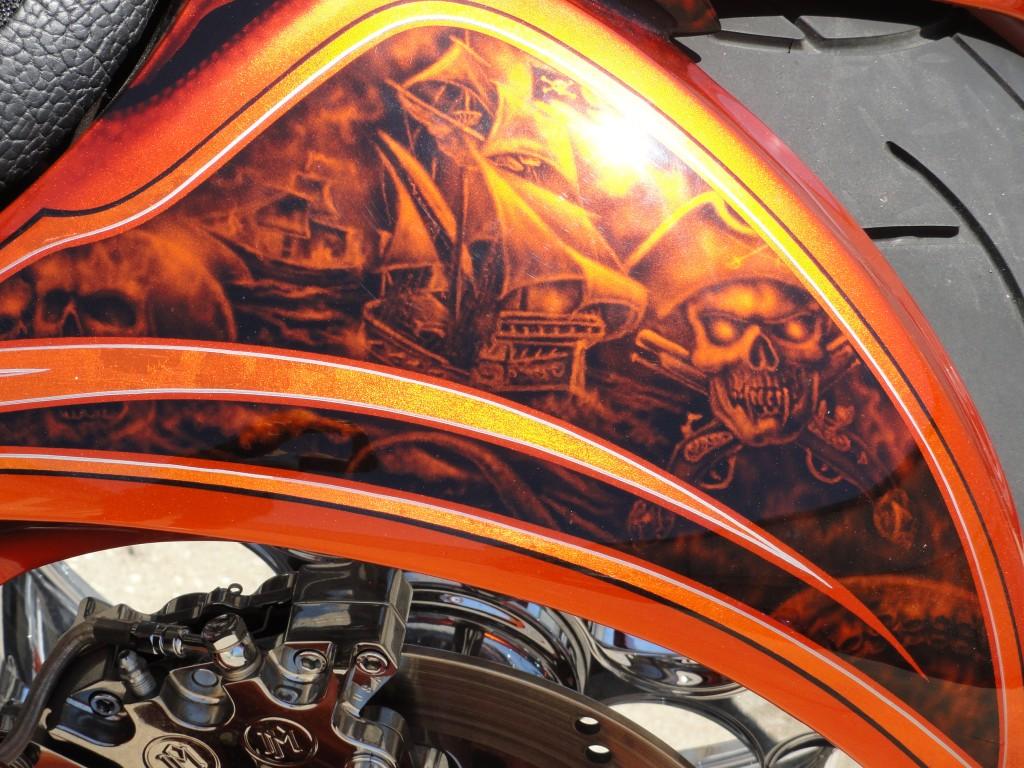 Pirate bike left side of rear fender