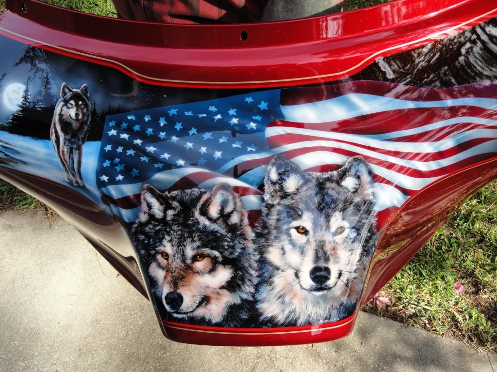 patriotic wolf trio