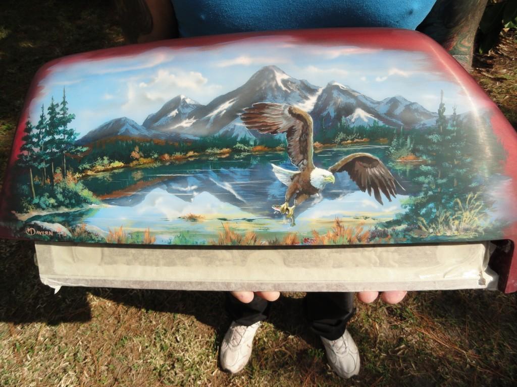 Mountain scene with eagle