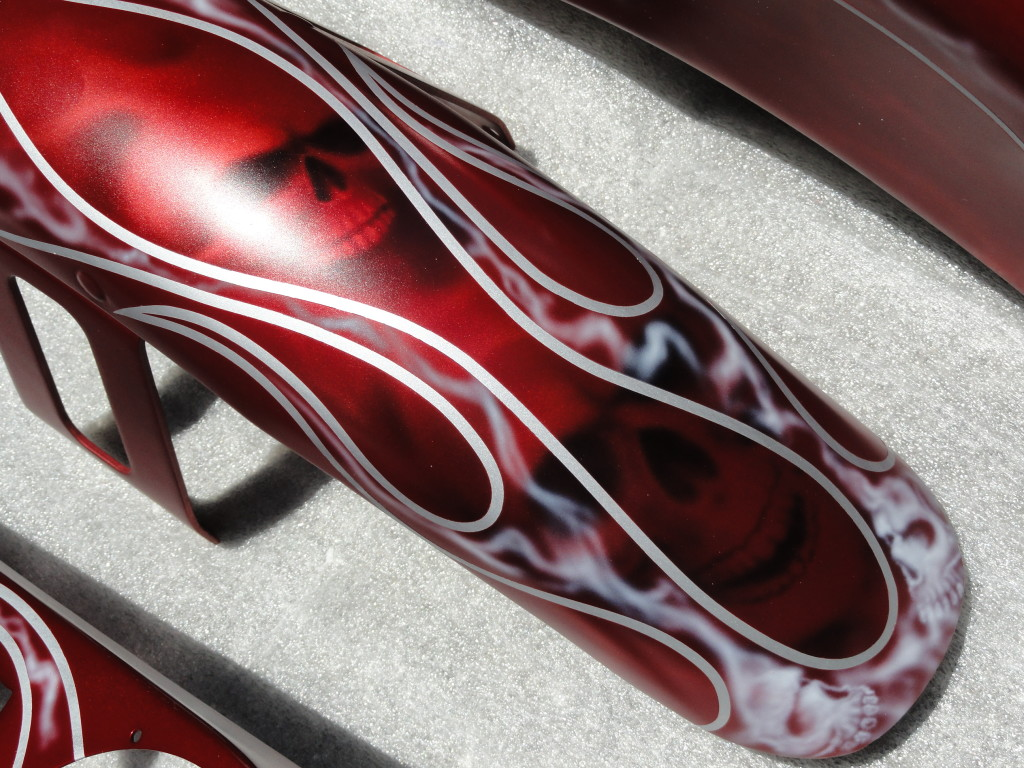 front fender for ghost skulls and flames bike