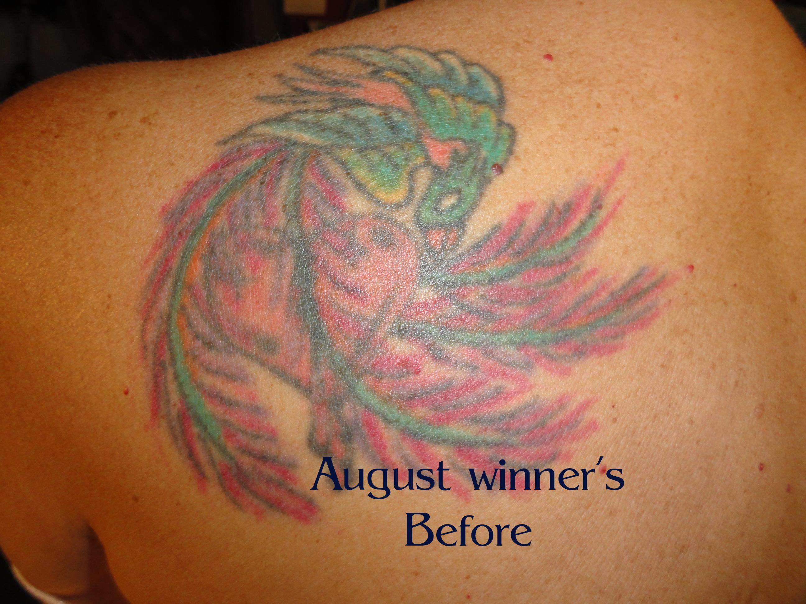 August winner's before