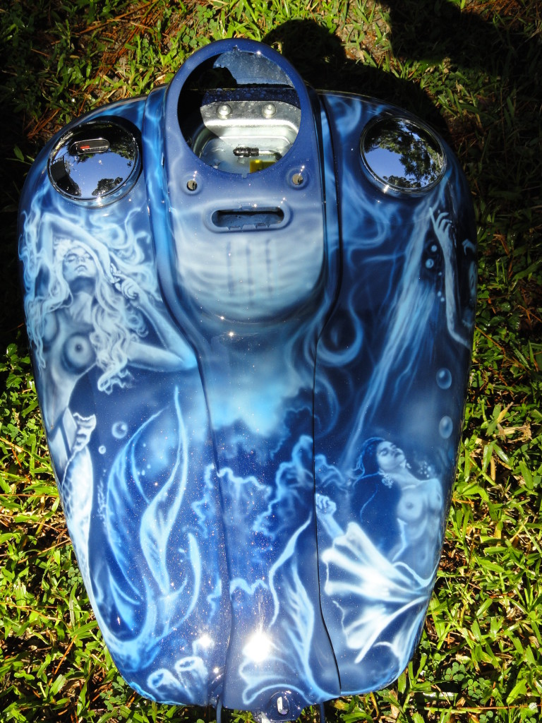 Fuel tank and dash of mermaid bike