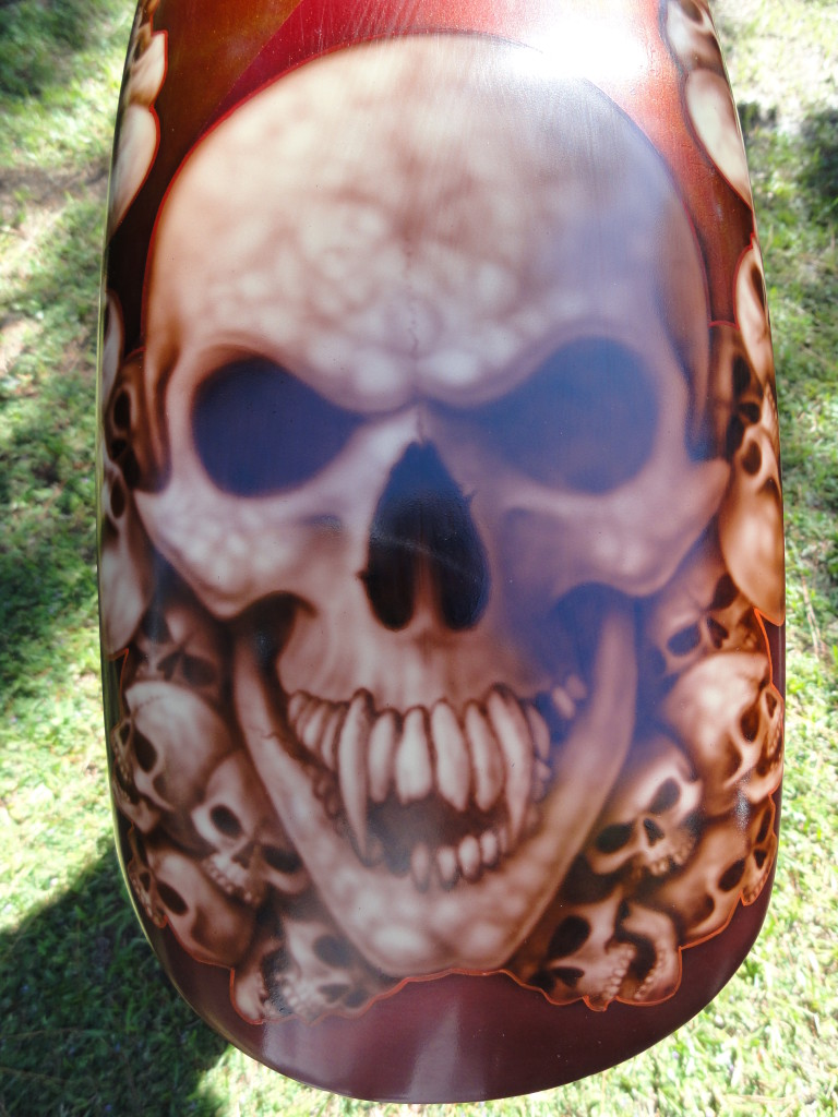 skull front fender
