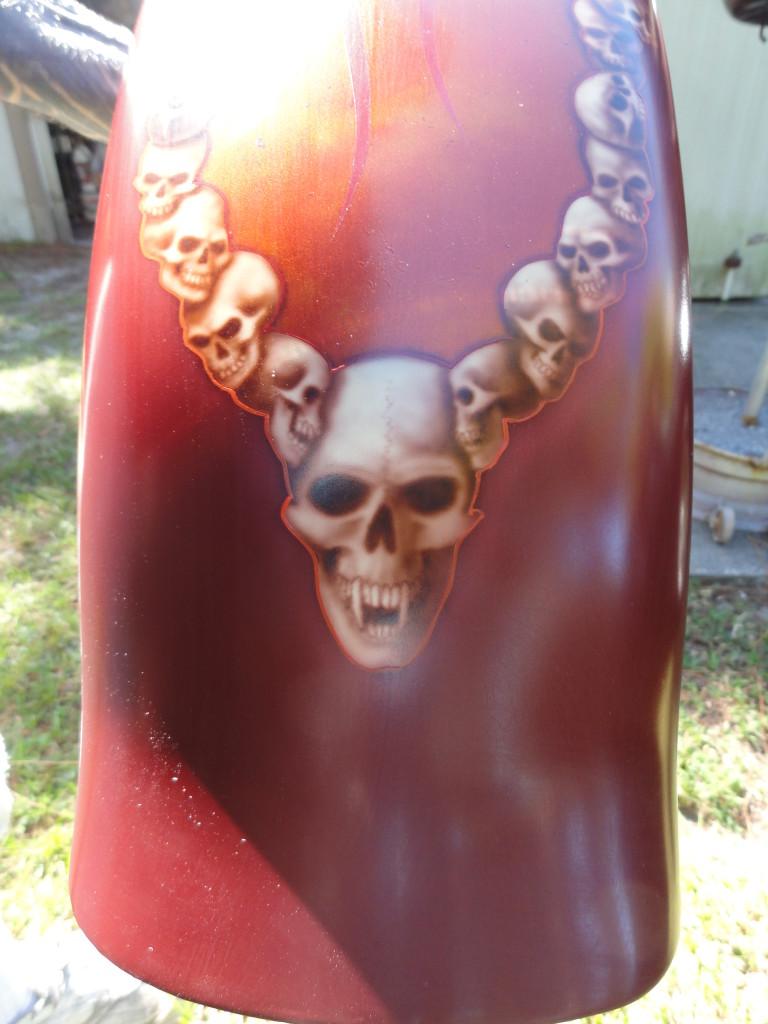 tail of reaper/skull front fender