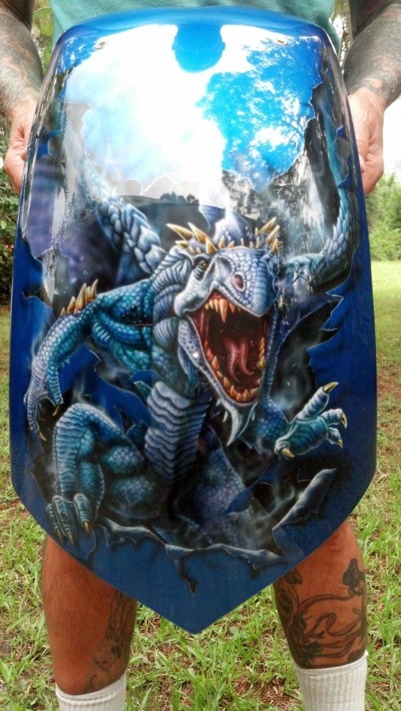 custom painted rear fender dragon