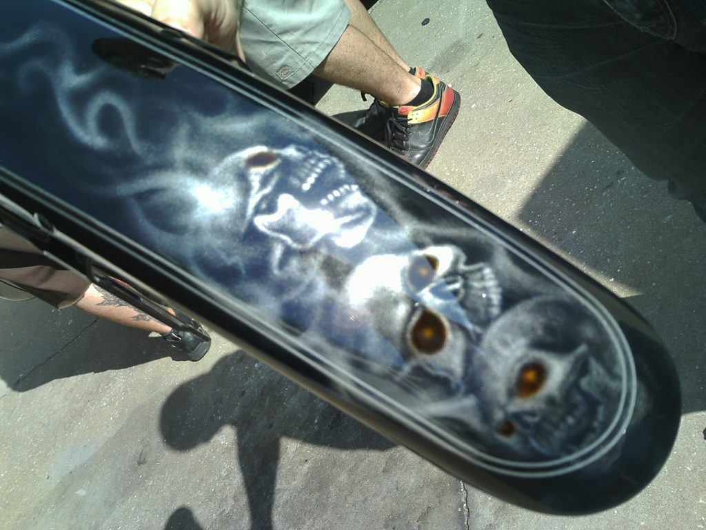 custom painted front fender